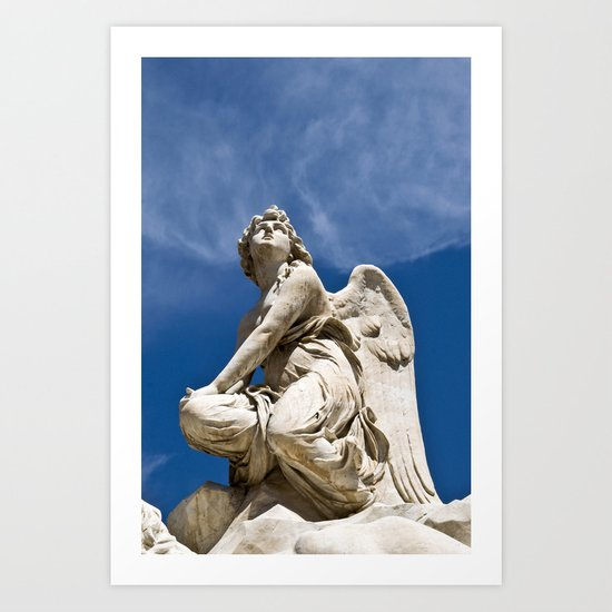 WHITE ANGEL - Sicily - Italy  Art Print
