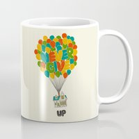 pixar Mugs featuring Never give UP by I Love Doodle