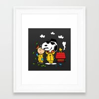 peanuts Framed Art Prints featuring Breaking Peanuts by Maioriz Home