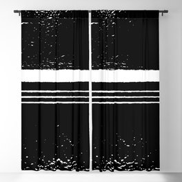 abstract black and white Blackout Curtain