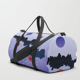Poppies and lake Duffle Bag
