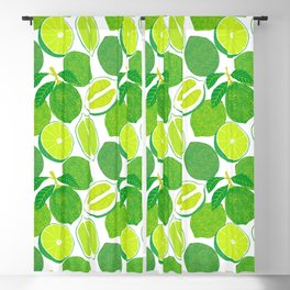 Lime Harvest Blackout Curtain