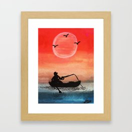 Patience and Solitude Framed Art Print