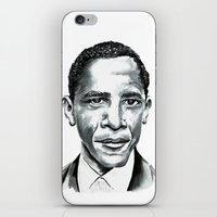 obama iPhone & iPod Skins featuring Obama by Bridget Davidson