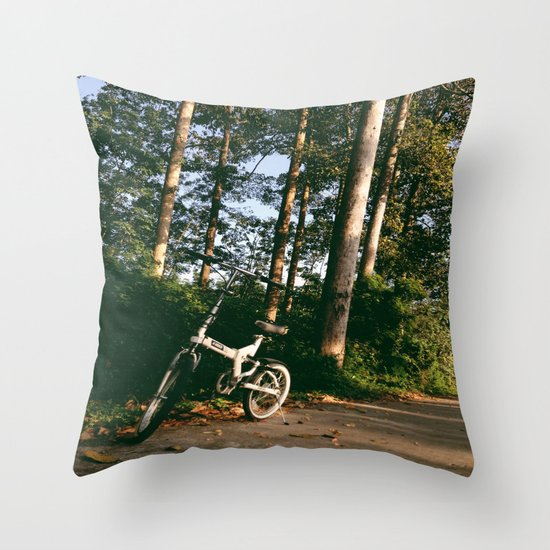Trail Bike Throw Pillow