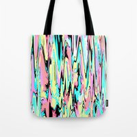 the strokes Tote Bags featuring Abstract Strokes by Jenna Davis Designs
