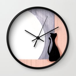 Cat and the Moon Wall Clock