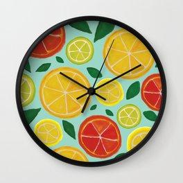 Citrus Delights Wall Clock