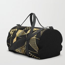 gold geometric with pattern Duffle Bag