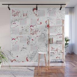 Calendar mess Wall Mural