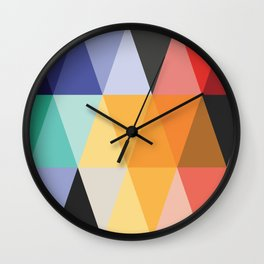 Mid-Century Modern Color Story Wall Clock