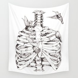 Flutter, Rib Cage & Hummingbird print Wall Tapestry