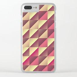 Split gradient squares Clear iPhone Case