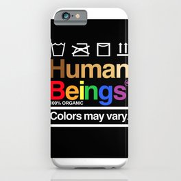 Human rights rainbow equality LGBT PRIDE BLACK LIVES MATTER iPhone Case