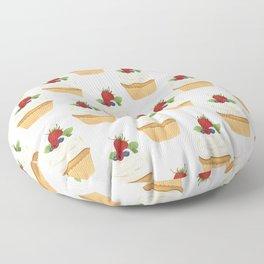 Red Fruit Cupcake Floor Pillow