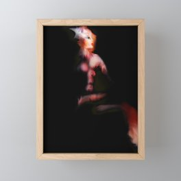 Nuclear Fox [Digital Figure Illustration] Framed Mini Art Print