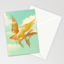 Flying Goldfish Stationery Cards