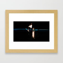 The light at the start of the tunnel Framed Art Print