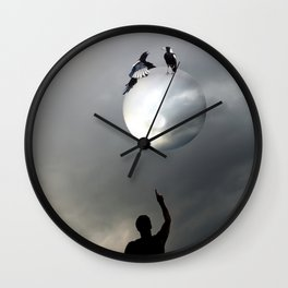 The Magpies Wall Clock
