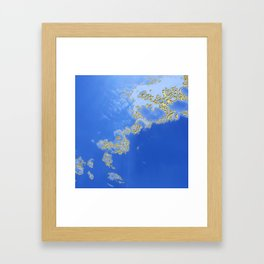 Orencyel : sky gazing before this golden melody Framed Art Print