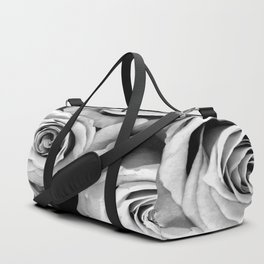 Black and White Roses Duffle Bag
