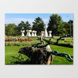Park of the Revolution in Prilep Canvas Print
