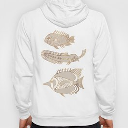 Fantastical Fish 1 - Natural Hoody