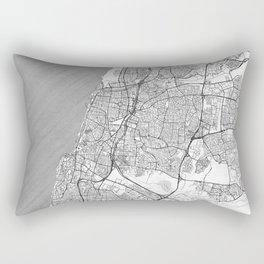 Tel Aviv Map Line Rectangular Pillow