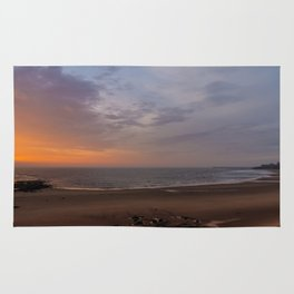 Dawn on Tynemouth Beach Rug