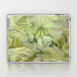 Soft Green Petal Ruffles Abstract Laptop & iPad Skin