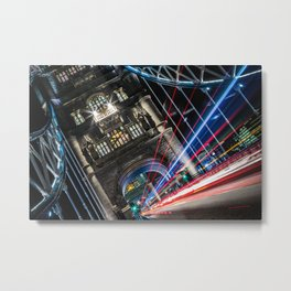 Tower Bridge Traffic Metal Print