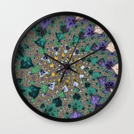 Fractal Paisleys Wall Clock