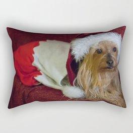 Yorkshire (yorkie) / Silky Terrier Christmas Rectangular Pillow