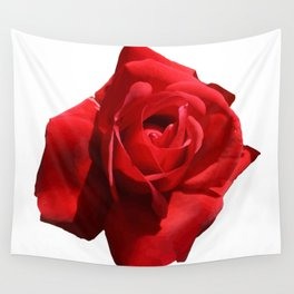 Red Rose Isolated Wall Tapestry