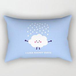 Cute rain cloud Rectangular Pillow