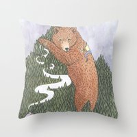 onward Throw Pillows featuring Onward by Alexa Roberts