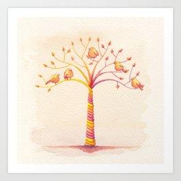 April Tree Art Print