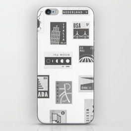 USA, Canada, London, The Moon iPhone Skin
