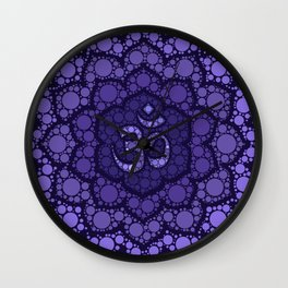 OM Symbol - Dot Art - purple palette Wall Clock