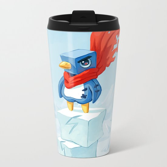 Super Penguin Metal Travel Mug