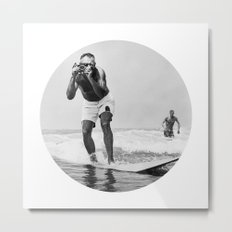The Surfing Photographer Metal Print