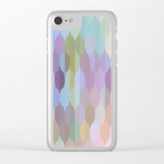 Pastel Geometric Abstract Clear iPhone Case