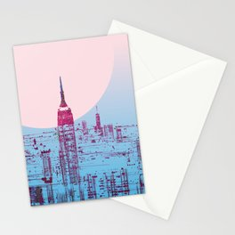 Sun In The City Skyline Design Stationery Cards