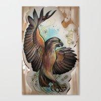 hawk Canvas Prints featuring Hawk by ChaniMurat
