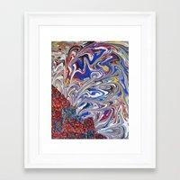 pocket fuel Framed Art Prints featuring Pocket by JessiePowers Art