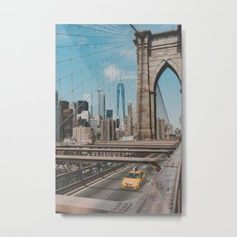 New York City Skyline and Brooklyn Bridge Metal Print