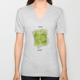August Peridot Birthstone Series - Watercolor Unisex V-Neck