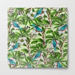 Floral Sparrow #society6 #buyart #homedecor Metal Print