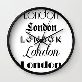 London City Quote Sign, Digital Download, Calligraphy Text Art, Large Printable Photography Wall Clock