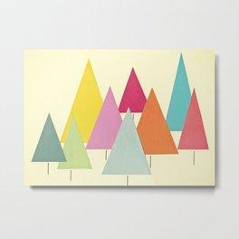 Fir Trees Metal Print